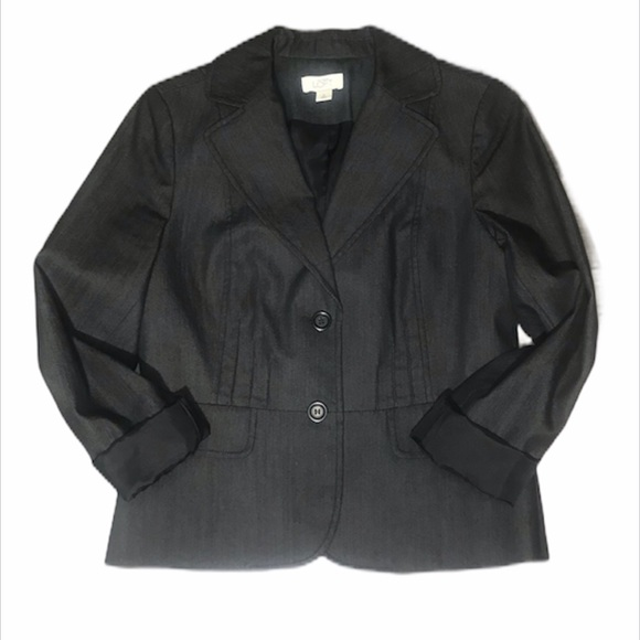 Loft Black Denim Blazer